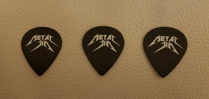Metal Jim jazz mini guitar picks